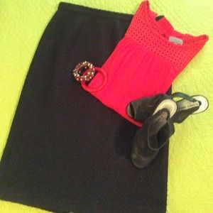 Talbots black skirt